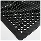 Black Indoor Commercial Industrial Durable Anti-Fatigue Floor Mat 36'' x 60''