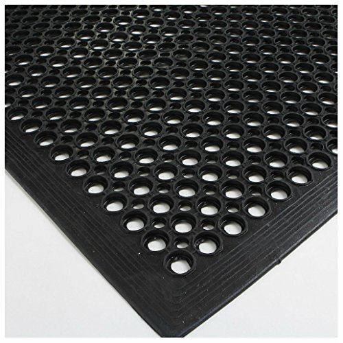 Black Indoor Commercial Industrial Durable Anti-Fatigue Floor Mat 36'' x 60'' by Unknown (Image #6)