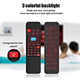 Tripsky P3 Colorful Backlit 6-axis 2.4G Mini Wireless Air mouse with with Infrared Remote Learning Control Keyboard, 3-Gyro + 3-Gsensor for Google Android TV/Box, IPTV, HTPC, Windows, MAC OS, PS3…