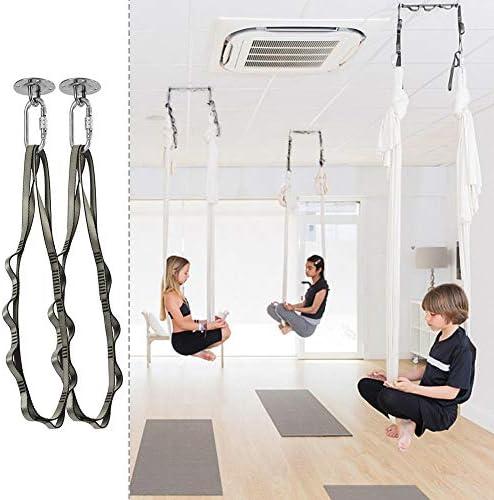 ganci a vite per amaca da yoga confezione da 2 pezzi in acciaio inox ganci per amaca Aivoof Confezione da 1 pezzo. dondolo per interni ed esterni
