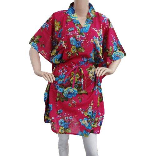 Cotton Kaftan Evening Women Wear Casual Dress Casual Floral Pink Caftan SIZE 4XL