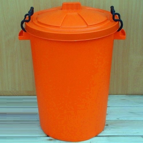 Orange 50 Litre Bin/Storage For Homes Gardens Animal Feed (Make In The UK) Image Accessories