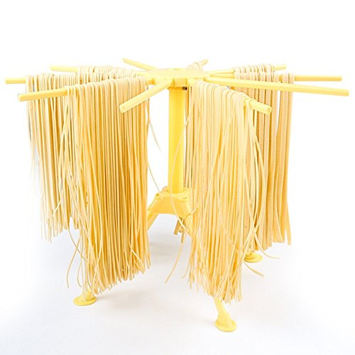 Debolic Collapsible Pasta Drying Rack and Spaghetti Drying Rack Stand/Spaghetti Pasta Maker with 10 Arms Food Grade ABS Plastic Matrial Household Noodle Dryer Stander Holder (Pasta Wooden Rack Drying)