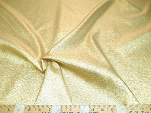 Swatch Sample Discount Fabric Allure Metallic Gold Thread Lame Costume Holiday Decor LA01 (Discount Costume)