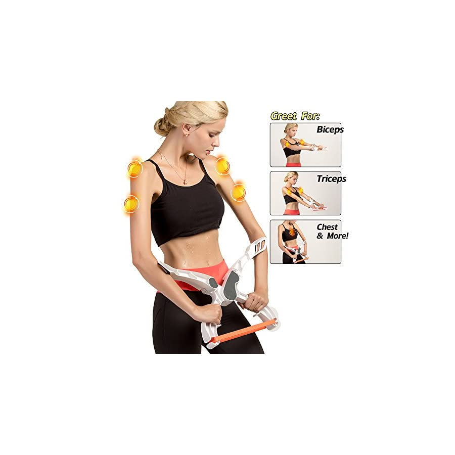 Rdfmy Arm Machine Workout Resistance Training Device Forearm Wrist Exerciser Force Fitness Equipment 3 Resistance Bands by