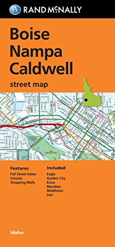 Folded Map: Boise, Nampa and Caldwell Street - Outlets Boise