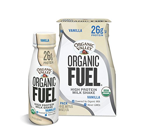 Organic Valley Fuel, Organic Milk Protein Shake, Vanilla, 11 oz (Pack of 4)