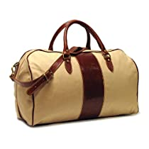 Floto Luggage Venezia Duffle In Canvas and Leather
