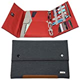 Tablet Sleeve Case hand carry Cover (Up To 10.5 inch) for iPad Air iPad 4 3 2 iPad Pro 9.7' 10.5'' MacBook 12' Kindle fire Samsung Galaxy tab with accessories document pencil holder - Gray Rust