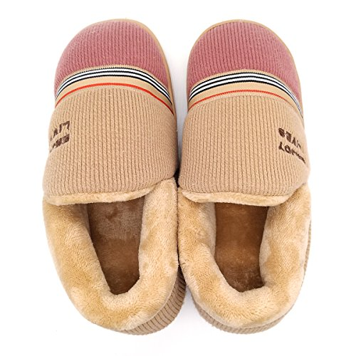 Comfort Paangkei Shoes Women's Brown Or Anti Slippers Big 1168 House Indoor Slip Girl's 6BfqcBUC