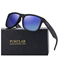 PUKCLAR Polarized Wayfarer Sunglasses for Men Women Ultra Light pk1004
