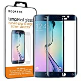 BOOSTED, Premium Tempered Glass Screen Protector for Samsung Galaxy S6 Edge - Full Screen, Curved Edges, 9H Hardness, Fingerprint Resistant, Oleophobic Coated (black)