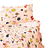 futurecos Sailor Moon Pillowcases Tsukino Usagi Pink Pillow Cases Flannel Luna Cat Pillow Shams Soft Anime Gift for Girls Kids (Pillowcase 24inch17inch)