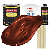Restoration Shop - Complete Gallon Kit - FIRETHORN RED Pearl Acrylic Enamel Single Stage Car Auto Paint