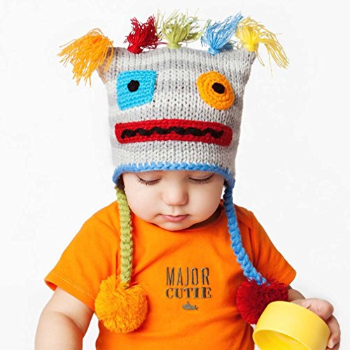 Huggalugs Baby and Toddler Robot Beanie Hat -