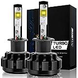 Automotive : NINEO H3 LED Headlight Bulbs, CREE Chips, Cool White Conversion Kit 6000K 7,200Lm - 3 Yr Warranty