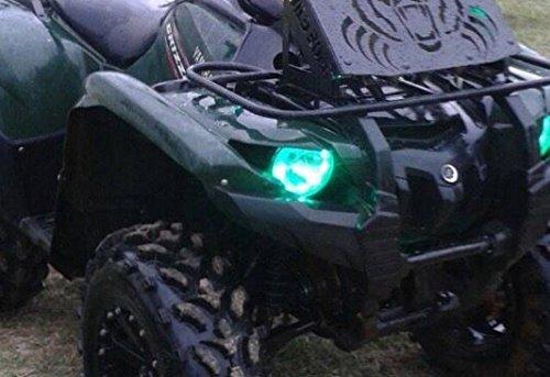 Yamaha Grizzly 500 700 Halos rings lights set 2 - Green led light angel eye