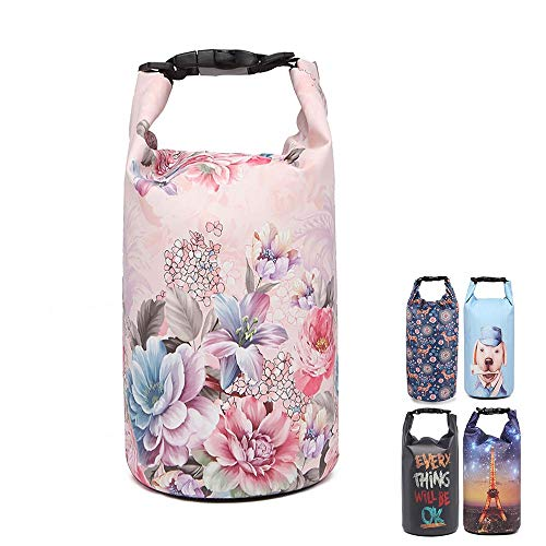 UrbanMover Dry Bag Backpack Waterproof Bag Compression Roll Top Sack for Kayaking Swimming Beach Floating Bag Pink for Women Girls 20L