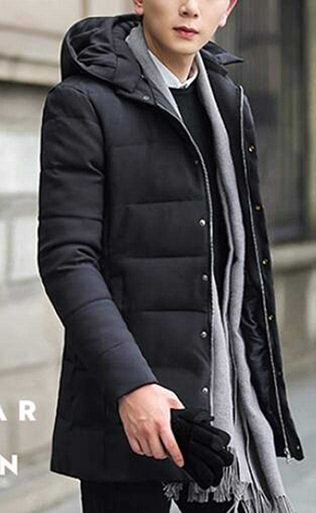 MMCP Men Thicker Slim Warm Hooded Down Quilted Jacket Coat Parka