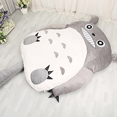 Norson My Neighbor Totoro Sleeping Bag Sofa Bed Twin Bed Double Bed Mattress for Kids Warm Cartoon Tatami Beanbag My Neighbor Totoro Sofa (Size 3150CM * 200CM59 *78in)