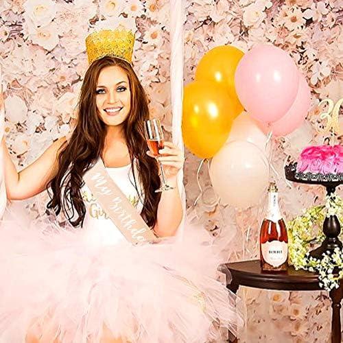Konsait Oro Rosa cumpleaños Faja, Its my Birthday Banda de satén ...