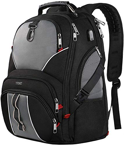 Travel Laptop Backpack, Large Computer Backpack Bag Fits 17 inch Laptop for Men Women for Hiking/School/College, Anti Theft Water Resistant TSA Smart Scan Laptops Bookbag with USB Charging Port-Black (Best Backpacks Brands List)