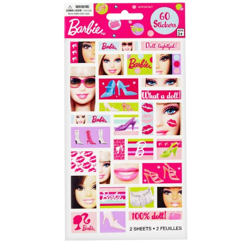 Barbie All Doll'd Up Stickers (2 sheets)]()