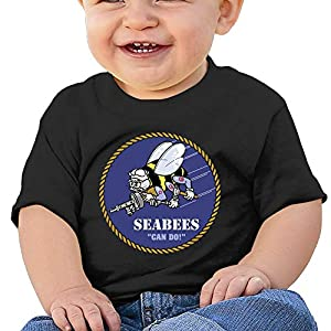 LUCIFA BAY Seabee Children's T Shirt Baby Boys Girls Tee Infant Toddler T-Shirt