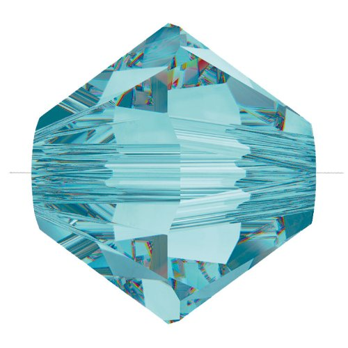Swarovski Crystal Bicone Beads 5328 6mm Light Turquoise (Package of 10)