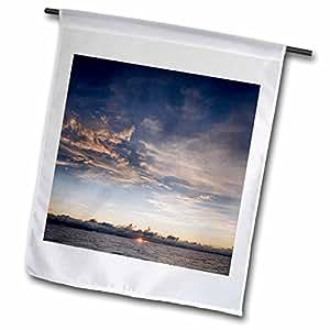 Danita Delimont - Sunsets - Sunset, South Pacific - NA05 DPB0001 - Douglas Peebles - 18 x 27 inch Garden Flag (fl_84757_2)