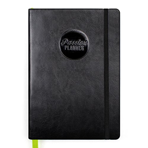 Passion Planner 2018 - Daily Agenda, Appointment Calendar, Gratitude and Reflection Journal to Increase Productivity and Achieve Goals - Compact Size (A5) Sunday Start (Timeless Black)