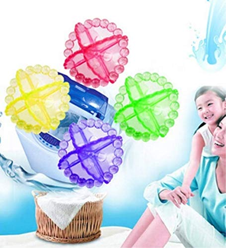 MarshLing Magic Hair Removal Laundry Ball Clothes Bra Clean Washing Machine Ball Chemicals Dryer Ball(Color Random) Perfect Quality Pack of 16 pcs