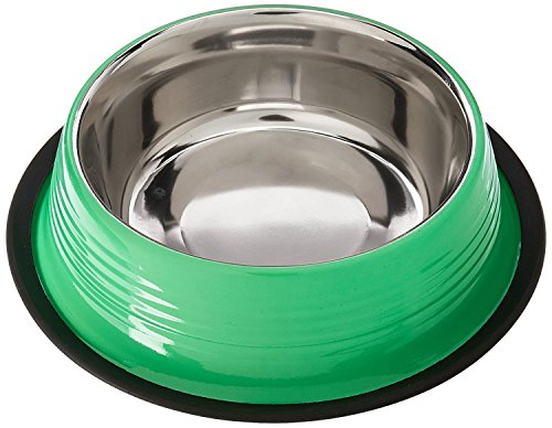 (Adog Ribbed Cat and Dog Bowl, 24 oz, Irish Green)