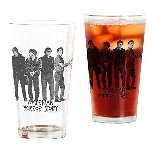 CafePress American Horror Story Evan Peters Pint Glass, 16 oz. Drinking Glass ()