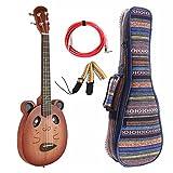 VIVICTORY Electric Tenor Ukulele VCE-T26 Mahogany Aquila nylon String with Gift Set Soft Case