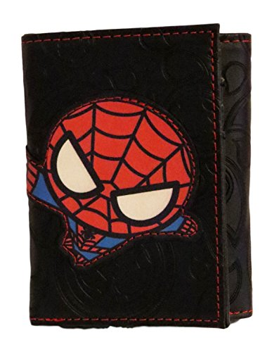 Marvel Comics Character Leather Trifold Wallet with Gift Tin Box