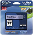 Brother Tape Retail Packaging 3 4 Inch Black on Clear TZe141 Retail Packaging
