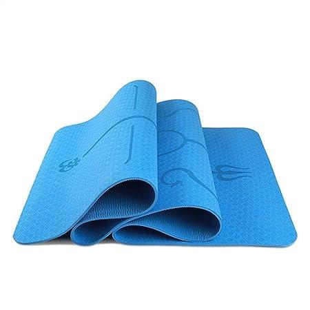 JuxinShangmao8 Esterilla De Yoga TPE Posición del Cuerpo ...