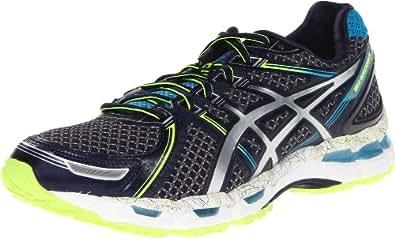 ASICS Men's GEL-Kayano 19 Running Shoe,Ink/Lighting/Island Blue,7.5 M US