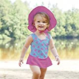 BA-1pc Skirty Swimsuit with Built-in Reusable