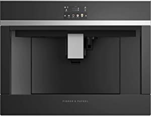 """Fisher Paykel EB24DSXB1 24"""" Built-In Non-Plumbed Coffee Maker with 5 Coffee Temperature Settings, Self Clean, and Water Tank, in Black"""