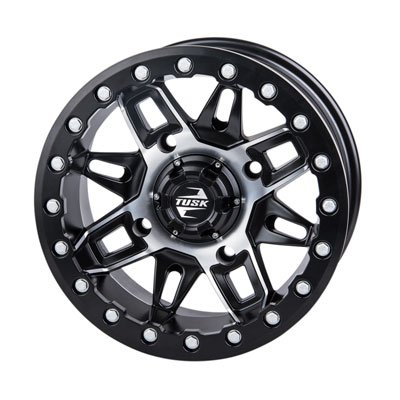 3.0 Machined//Black for Polaris GENERAL 1000 EPS 2016-2018 4//156 Tusk Wasatch Beadlock Wheel 14x7 4.0