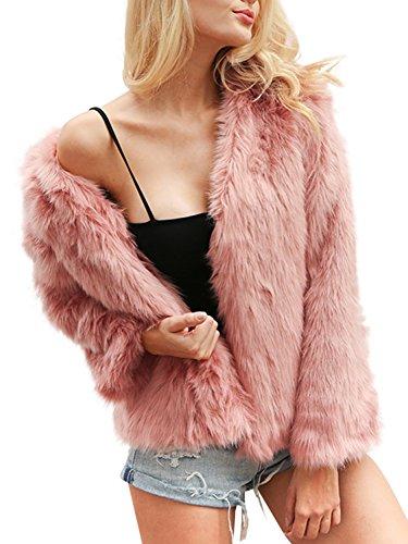 Faux Rabbit Fur Coat - 1