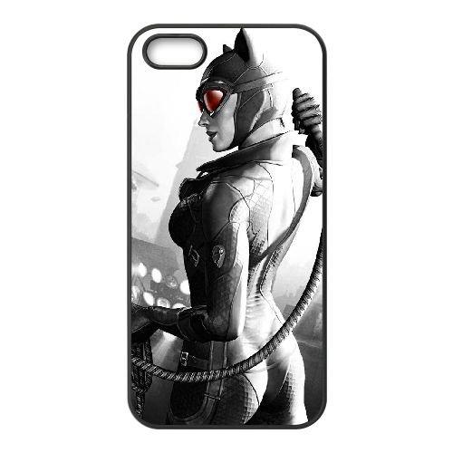 Catwoman 001 coque iPhone 5 5S cellulaire cas coque de téléphone cas téléphone cellulaire noir couvercle EOKXLLNCD22699