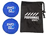 SWAX LAX Balls (2-Pack) Soft Weighted Lacrosse Training Balls Blue Swax Lacrosse Ball Bundle with 1 Performall Sports Bag