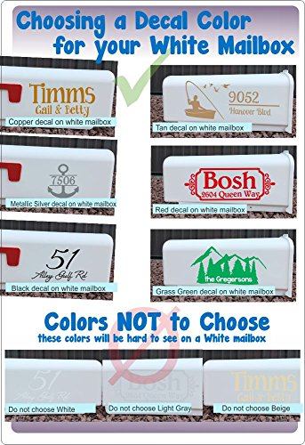 Personalized Vinyl Mailbox Decals Letters Custom Street Address Stickers, Set of 2 Jumbo by Wall Decor Plus More (Image #5)