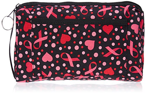 Prestige Medical Compact Carry Case, Ribbons and Hearts Black