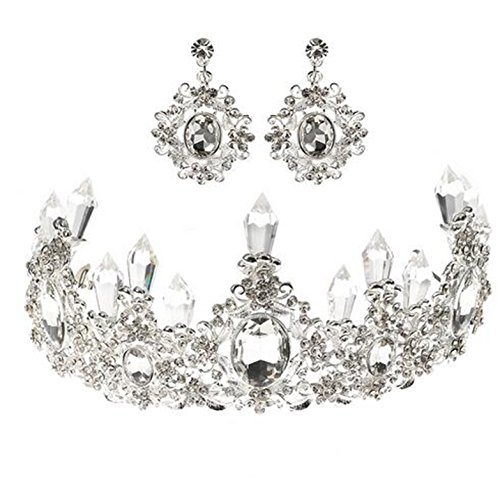 Wiipu Luxury Purple Crystal Crown Tiaras Princess Crystal Wedding Bridal Headband(A1074) ()
