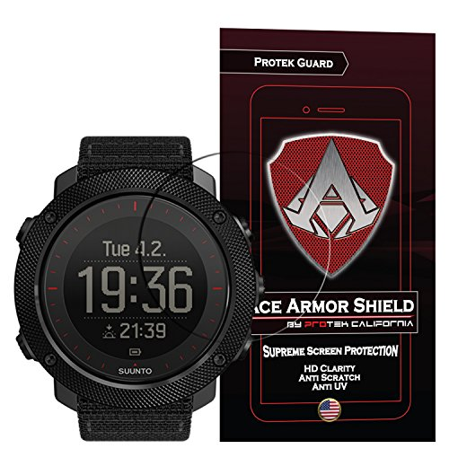 Suunto Traverse Alpha (6 Pack) Ace Armor Shield Screen Protector Clear Anti-Bubble Shield with free lifetime replacement
