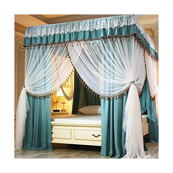 Zanzariera Principessa Quattro montante d'angolo assestamento decorazione della tenda del baldacchino del reticolato… 1 spesavip